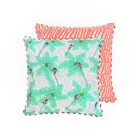 Coconut Pickers Cushion I - The Elephant Stamp - Treniq