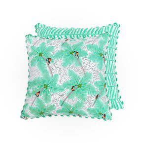 Coconut Pickers Cushion II - The Elephant Stamp - Treniq
