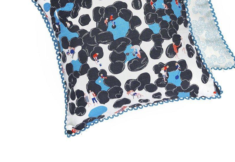 Rockpools cushion the elephant stamp treniq 3