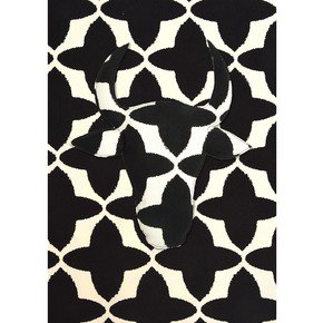 Black Buta Canvas Fabric - No Mad - Treniq