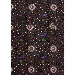 Black Ihita Cotton Fabric - No Mad - Treniq