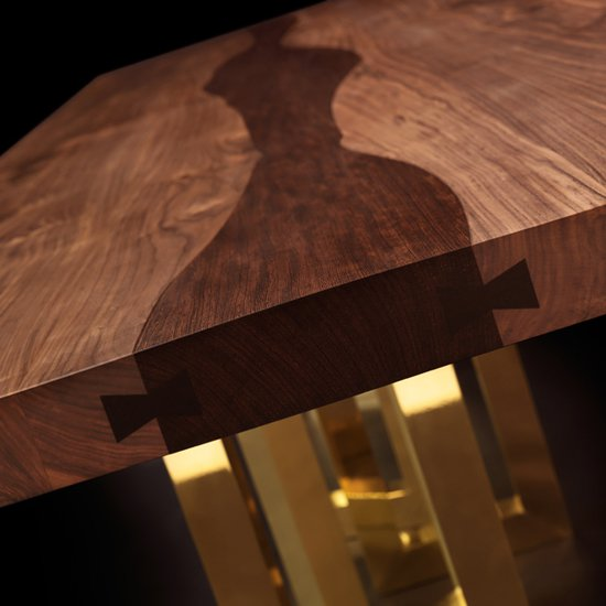 Il pezzo mancante il pezzo 6 table solid walnut