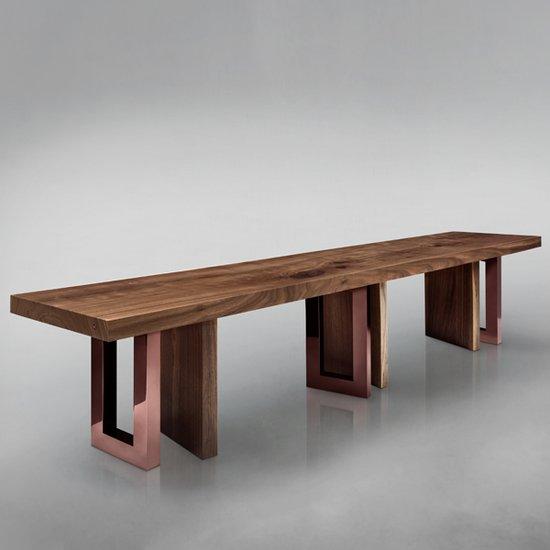 Il pezzo 6 bench rose bronze
