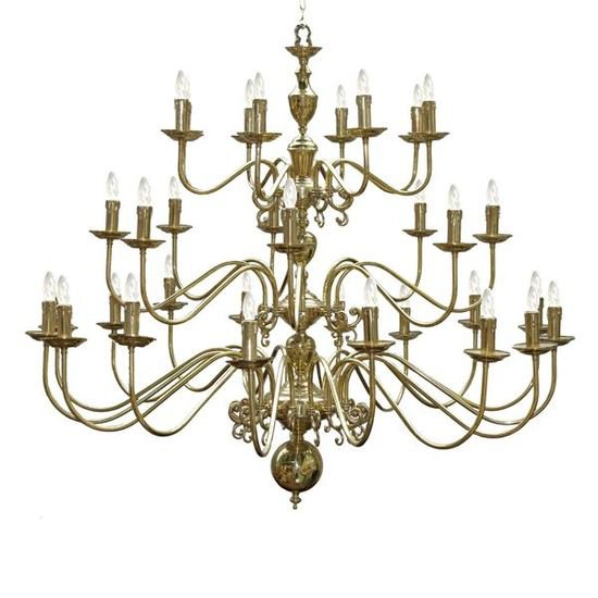 0000521 flemish chandelier 1688 arm