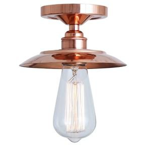 Suva Flush Polished Copper Ceiling Fitting
