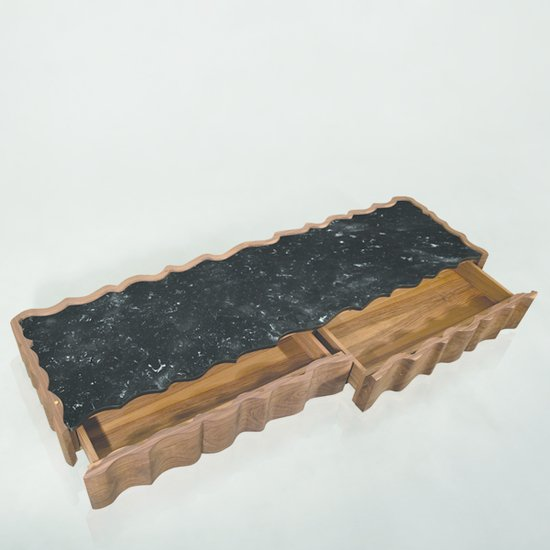 Il pezzo 2 cofee table marble drawer