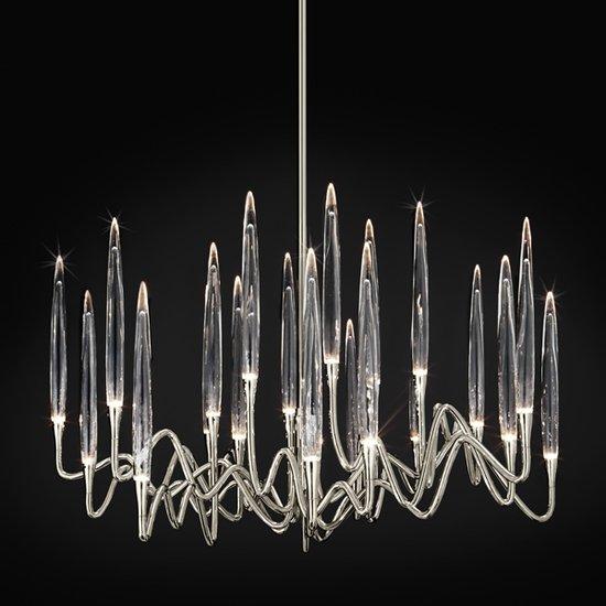 Il pezzo 3 lampadario 21 luci nickel
