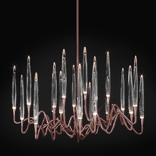 Il pezzo 3 chandelier 21 lights  rose bronze