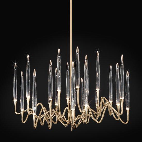 Il pezzo 3 chandelier 21 lights  brass