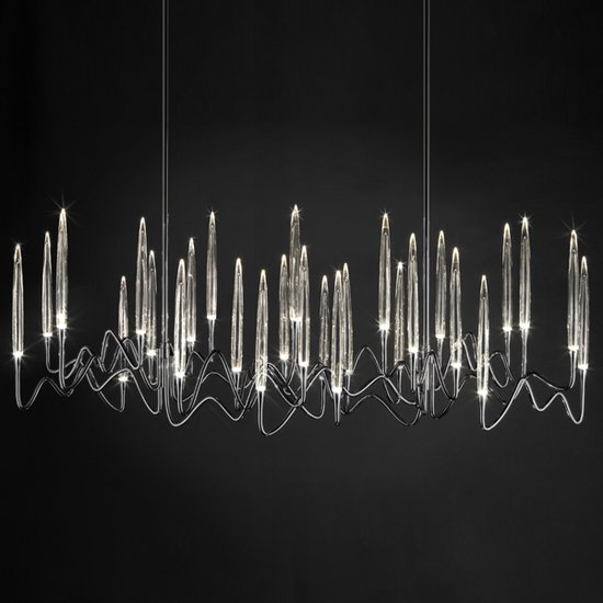 Il pezzo 3 chandelier 30 lights  black nickel
