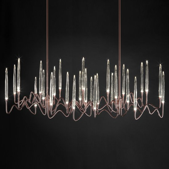 Il pezzo 3 chandelier 30 lights  rose bronze