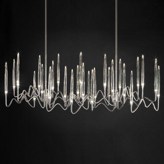 Il pezzo 3 chandelier 30 lights  nickel