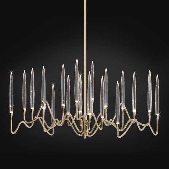 Il pezzo 3 long chandelier 18 lights