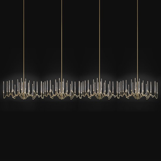 Il pezzo 3 endless chandelier brass crystals leds 1