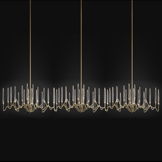 Il pezzo 3 endless chandelier brass crystals leds 2