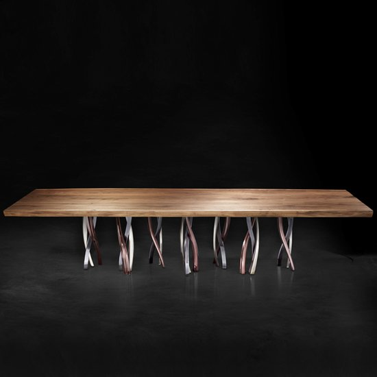 Il pezzo 8 table solid walnut 2