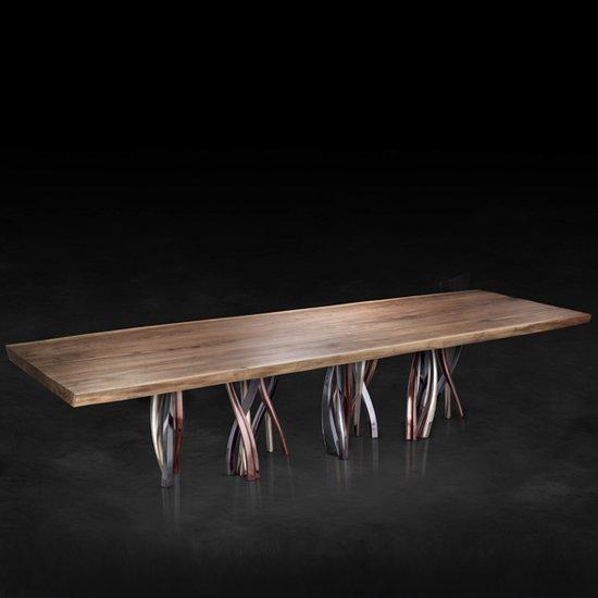 Il pezzo 8 table solid walnut 12