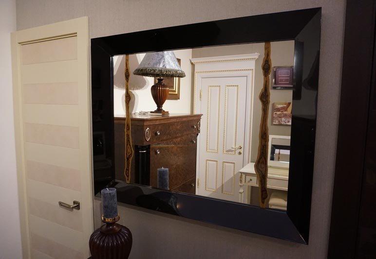 Mirror with macassar fragment wood interior solutions ltd treniq 6