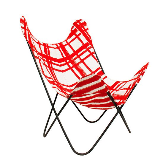 No mad india ajara chair black chowkad patta cover front