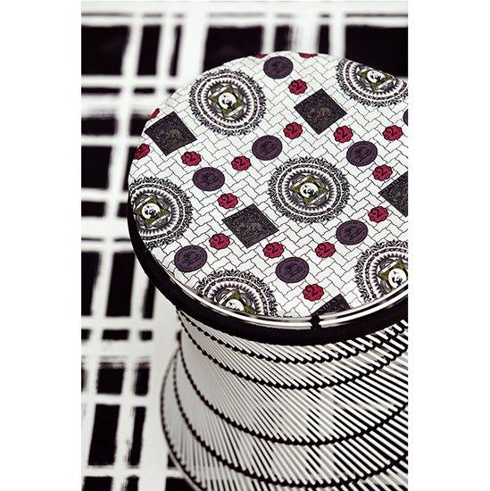 Nomad india black lasita fabric