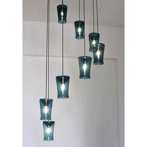 Waisted Multiple Drop Suspension Lamp - One Foot Taller - Treniq