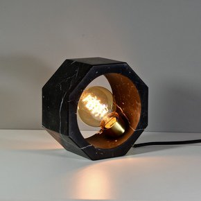 Octagon Table Lamp Black