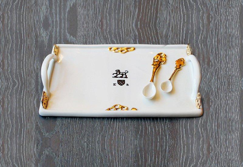Heritage tray gold plated emma alington treniq 1