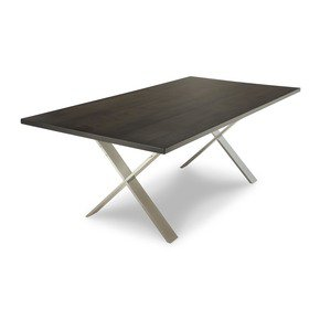 X Chrome Dining Table - Woodcraft - Treniq