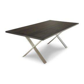 X Chrome Dining Table - Woodcraft - Treniq
