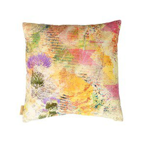 Harris Green Thistle Velvet Cushion - Mairi Helena - Treniq