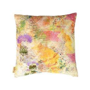 Harris Green Thistle Velvet Cushion - Mairi Helena - Treniq