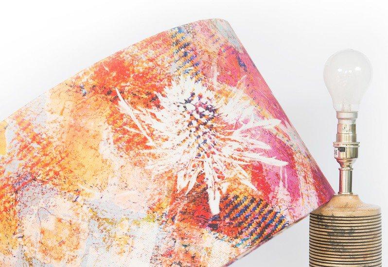 Pink thistle lampshade medium mairi helena treniq 2