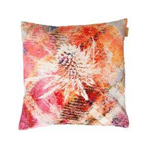 Pink Thistle Velvet Cushion - Mairi Helena - Treniq