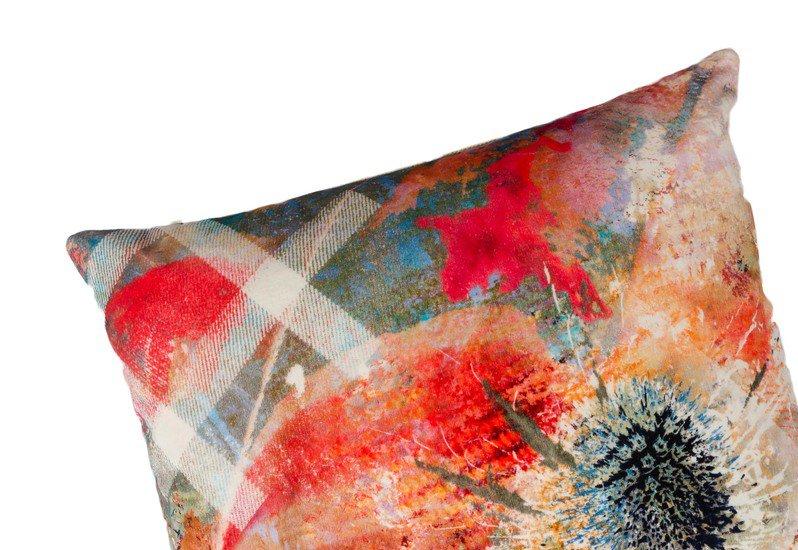 Summer thistle velvet cushion mairi helena treniq 2