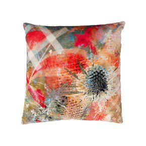 Summer Thistle Velvet Cushion - Mairi Helena - Treniq