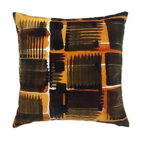 Abstract Check Cushion