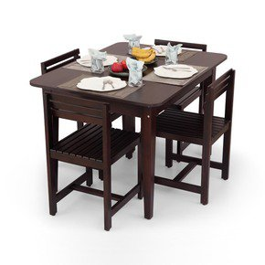 Rectangular Four Seater Dining Table Set