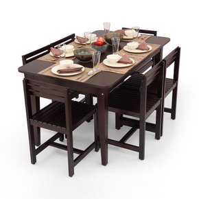 Rectangular Six Seater Dining Table Set