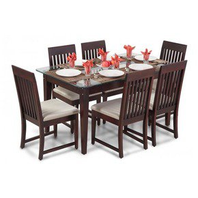 Stylish Six Seater Dining Table Set