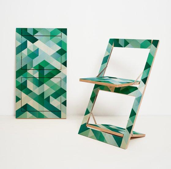 Flaepps klappstuhl folding chair criss cross green ambivalenz hr 1to1