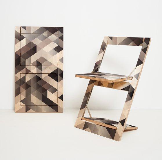 Flaepps klappstuhl folding chair criss cross grey ambivalenz hr 1to1