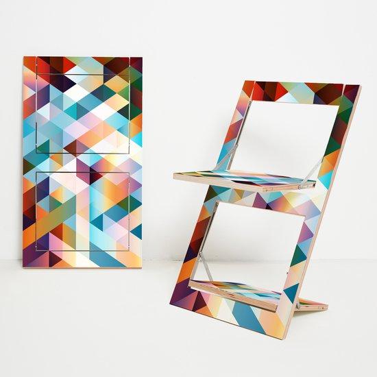 Flaepps klappstuhl folding chair criss cross red ambivalenz hr 1to1