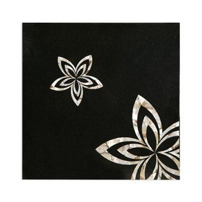 Balck Marble Squar Tabletop - Carved Additions - Treniq