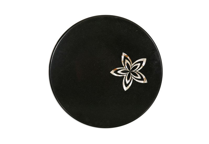 Black marble tabletop carved additions treniq 1
