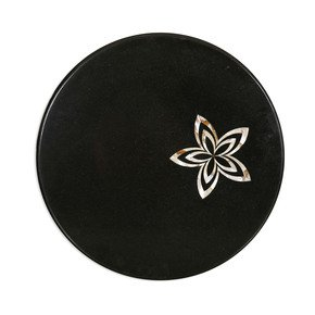 Black Marble Tabletop - Carved Additions - Treniq