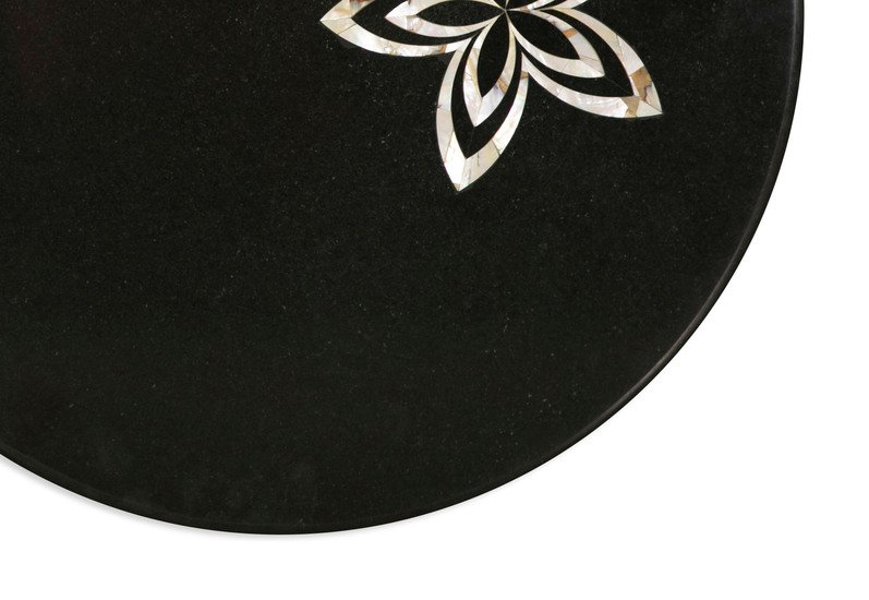 Black marble tabletop carved additions treniq 3