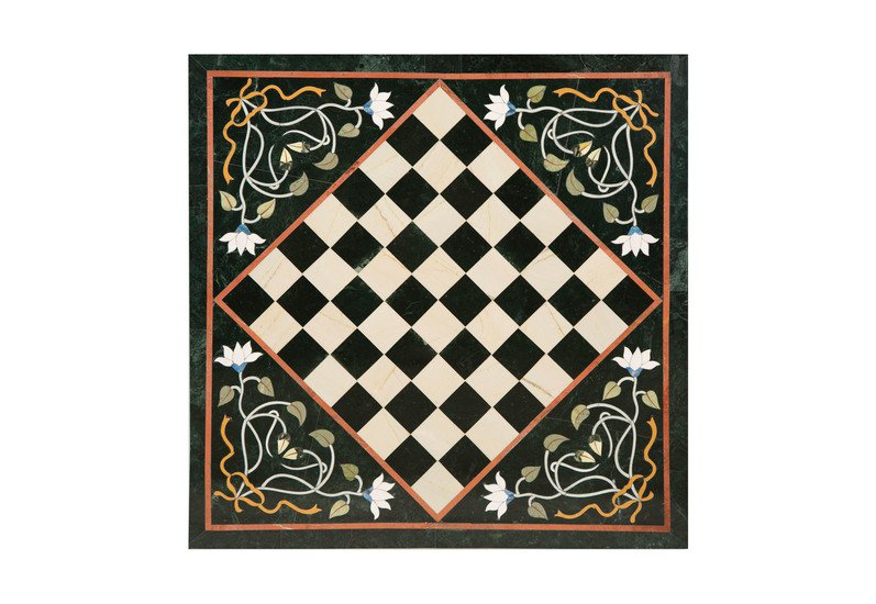 Chess board inlay tabletop i carved additions treniq 1