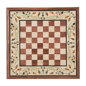 Chess Board Inlay Tabletop II - Carved Additions - Treniq