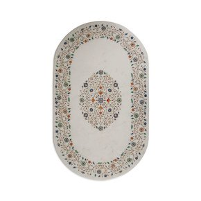 Foliage Marble Tabletop - Carved Additions - Treniq