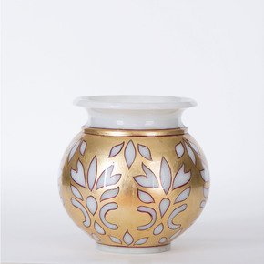 Marble-Gold-Candle-Holder_Carved-Additions_Treniq_0